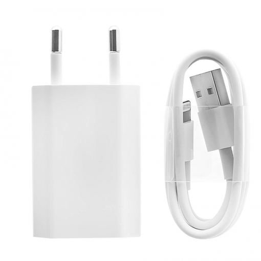 Cargador A14000 + Cable Iphone Md818 Original Apple Blanco