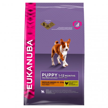 Eukanuba Puppy Medium Breed - Saco De 15 Kg