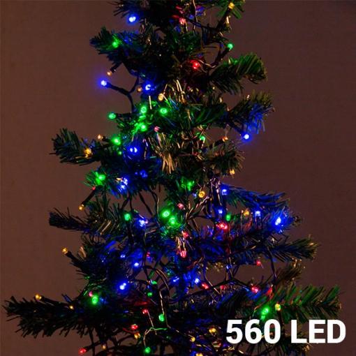 Luces De Navidad Multicolor De 560 Led Ideal Para Decorar árboles De 180 Cm 8 Opciones De Iluminación 14 Metros De Largo