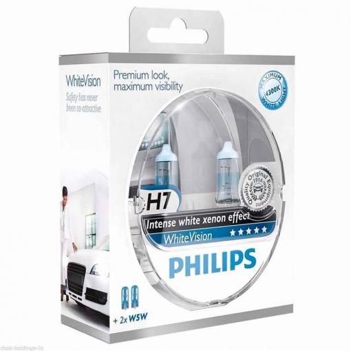 12972whvsm Pack 2 2 Lamparas Philips Halogena White Vision 12v H7 W5w Con Ofertas En Carrefour Las Mejores Ofertas De Carrefour