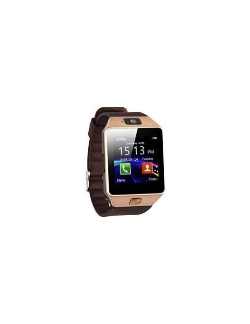 Lks Smartwatch Dz09 Multi-función Bluetooth, Con Cámara Frontal ,slot Para Tarjeta Sim Y Microsd Dorado