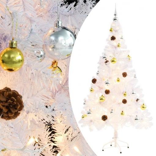 árbol Navidad Artificial Decorado Bolas Luces Led 150 Cm Blanco Vidaxl Con Ofertas En Carrefour Las Mejores Ofertas De Carrefour
