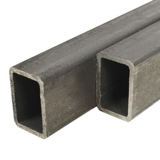 Vidaxl Tubo Acero Estructural Rectangular 4 Uds Caja 2 M 50x30x2mm