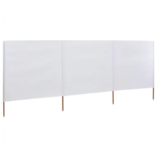 613731ec576 Vidaxl Paravientos De Playa De 3 Paneles De Tela 400x120 Cm Blanco con  Ofertas en Carrefour | Las mejores ofertas de Carrefour