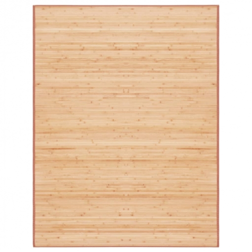 Vidaxl Alfombra De Bambú 195x300 Cm Marrón