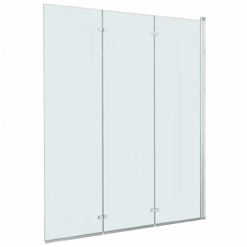 FAMIROSA Mampara de Ducha con 3 Paneles Plegables 141 x 130 cm