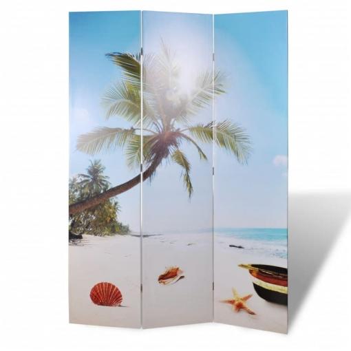 Biombo Con Dise�o De Playa, 120 X 180 Cm