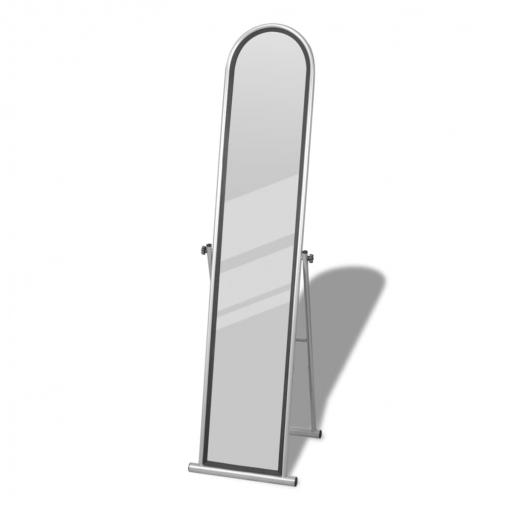 Espejo de pie cuerpo entero rectangular gris las mejores for Espejo pared cuerpo entero