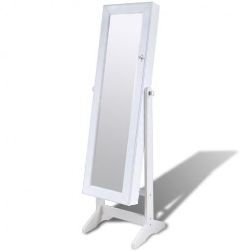 Espejo Joyero Blanco De Pie Con Luz Led | Las mejores ofertas de ...