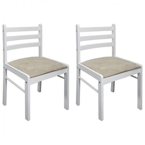 Dos Sillas Cuadradas De Comedor De Madera Blanca | Las mejores ...