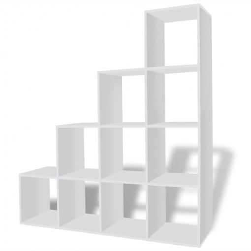 estantería blanca para libros en forma de escalera 142 cm las