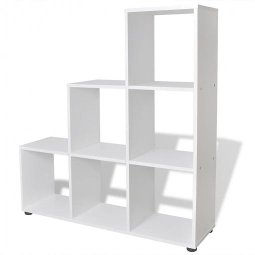 estantería blanca para libros en forma de escalera 107 cm las