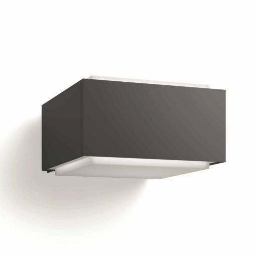 color antracita Philips myGarden Hedgehog Aplique exterior en aluminio resistente a la intemperie IP44