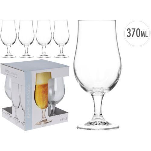 Set 4 Copas Cristal Cerveza 37 Cl.