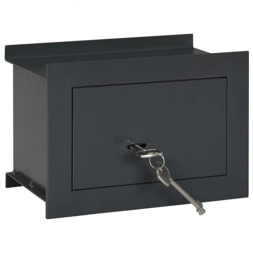 Vidaxl Caja Fuerte Para Pared Gris Oscuro 26x16x18 Cm