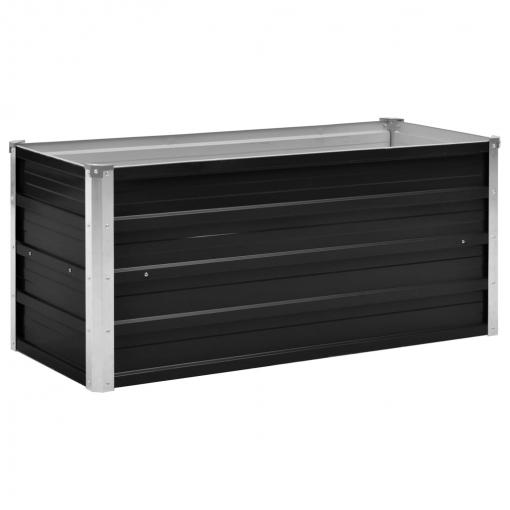 Vidaxl Jardinera De Acero Galvanizado Gris Antracita 100x40x45 Cm