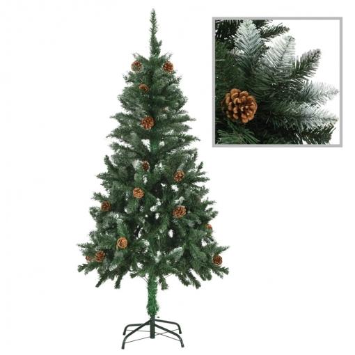árbol De Navidad Artificial Con Piñas Y Brillo Blanco 150 Cm Vidaxl Con Ofertas En Carrefour Las Mejores Ofertas De Carrefour