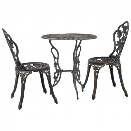 sillas de jardín de aluminio fundido
