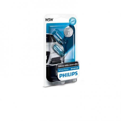 12961nbvb2 - Blister 2 Philips W5w White Vision 2 X W5w