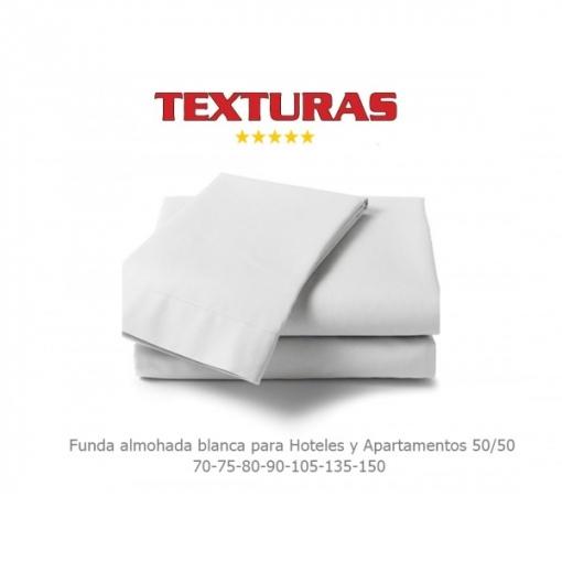 Texturas Basics - Funda De Almohada Para Hotel Y Apartamentos Economy Blanco ( Varios Tamaños Disponibles ) - Tamaño Almohada: 135