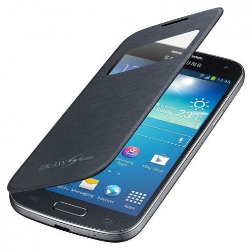 54ef1055dfc Funda S View Samsung Ef-ci919bb Negra Para Galaxy S4 Mini | Las ...