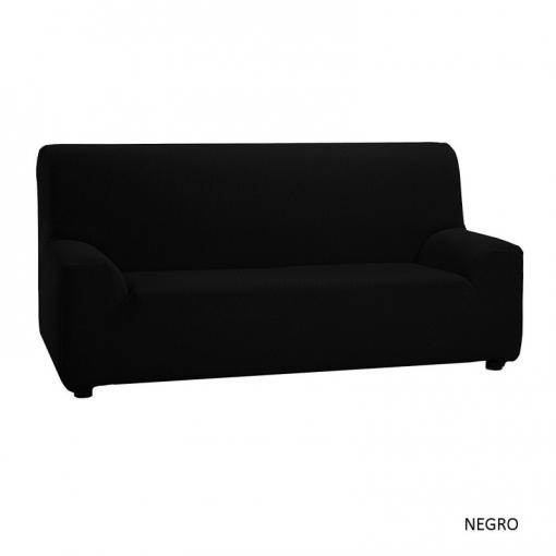 Texturas Vip- Funda De Sofá Elástica Low Cost ( Varios Tamaños Disponibles ) - Color: Negro - Opción Sofá: 2 Plazas