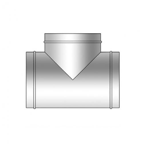 Te Simple 90º Chapa Galvanizada Conductos Ventilación  Ø355