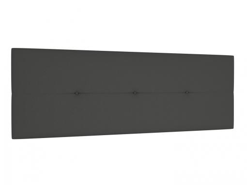 Cabecero tapizado julie 160 x 55 cms para camas de 135 140 150 y 160 cms polipiel color gris - Cabecero polipiel carrefour ...