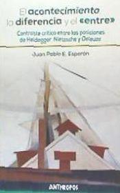 El Acontecimiento, La Diferencia Y El «entre» . Contraste Crítico Entre Las Posiciones De Heidegger, Nietzsc
