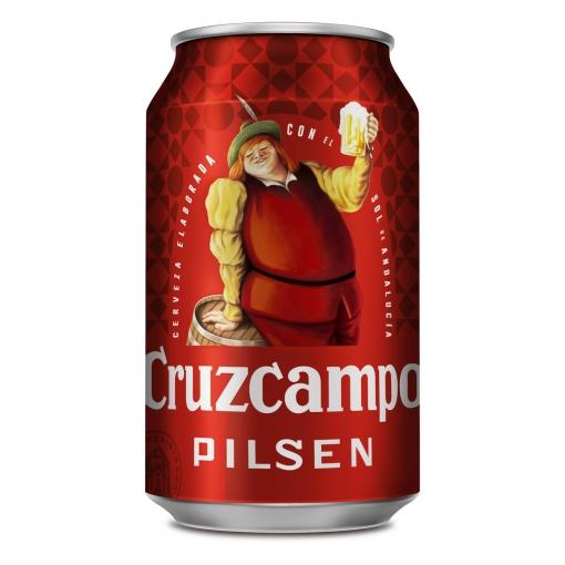Cerveza Cruzcampo Pilsen lata 33 cl.