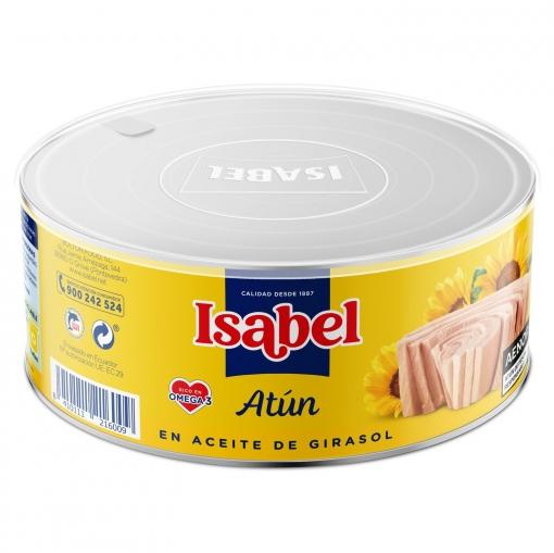 Atún en aceite de girasol Isabel 600 g.