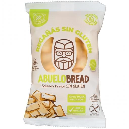 Regañás con semillas de chía Abuelobread sin gluten y sin lactosa 100 g.