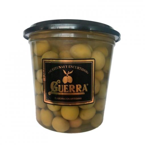 Aceitunas con hueso sabor anchoa Guerra 400 g.