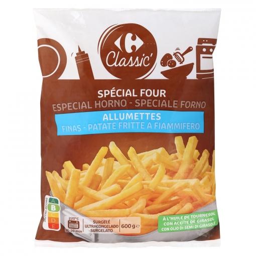 Patatas fritas superfinas Carrefour 600 g.