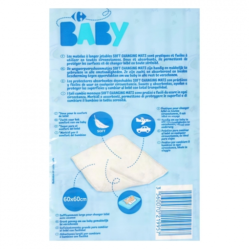 Protector Absorbente Carrefour Baby10 ud.