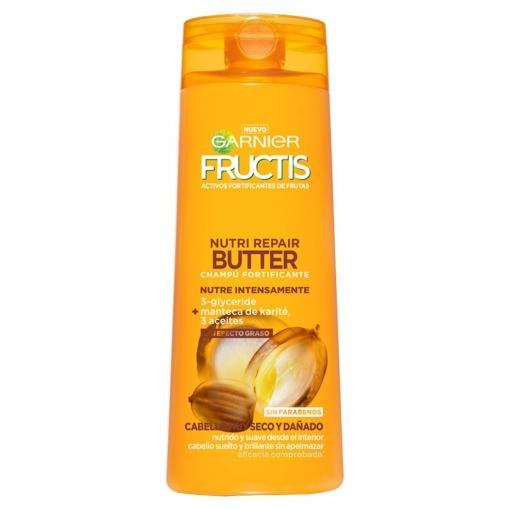 Champú fortificante Nutri Repair Butter para cabello muy seco y dañado Garnier-Fructis 360 ml.
