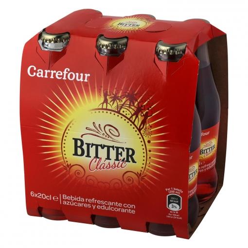 Bitter Carrefour pack de 6 botellas de 20 cl.