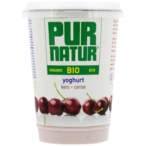 Yogur con cereza ecológico Pur Natur 500 g.