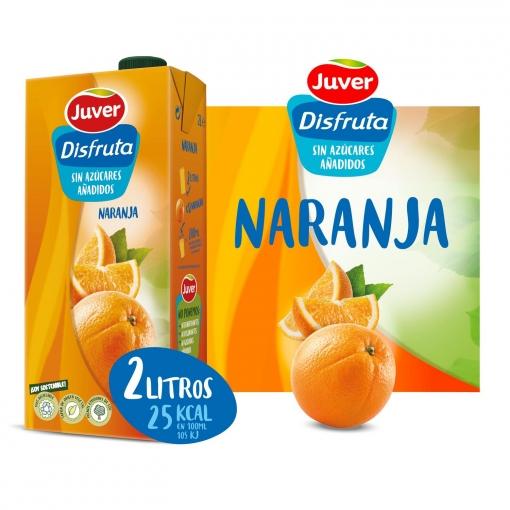 Zumo de naranja Juver sin azúcar añadido brik 2 l.