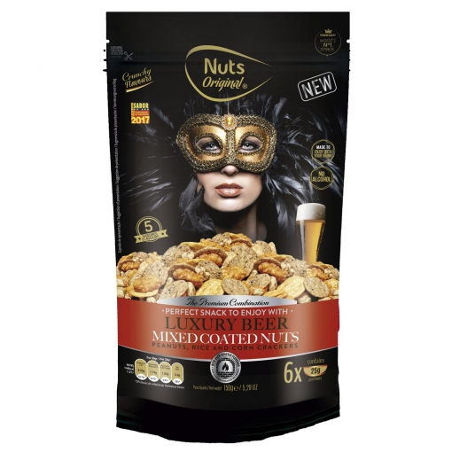 Cocktail de frutos secos Luxury Beer Nuts Original doy pack 150 g.
