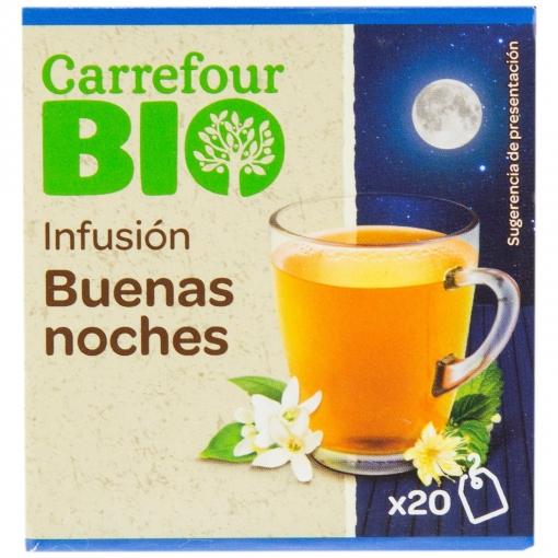 Infusión buenas noches en bolsitas ecológica Carrefour Bio 20 ud.