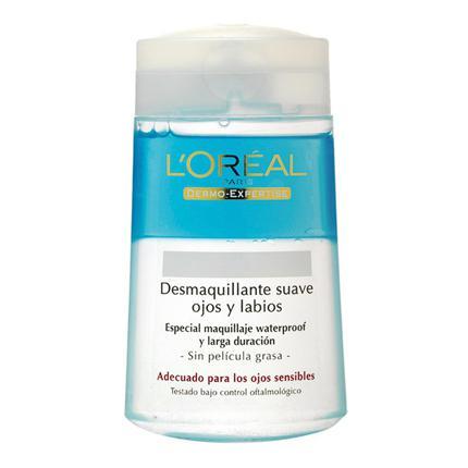 Desmaquillante suave de ojos y labios L'Oréal Dermo Expertise 125 ml.