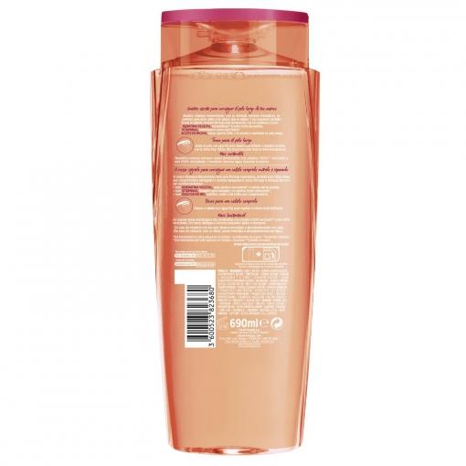 Champú reconstructor para pelo largo y dañado dream long L'Oréal Elvive 690 ml.