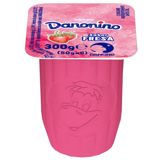Petit de fresa Danonino sin gluten pack de 6 unidades de 50 g.