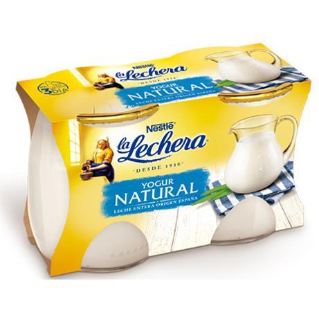 Yogur natural Nestlé La Lechera pack de 2 unidades de 125 g.