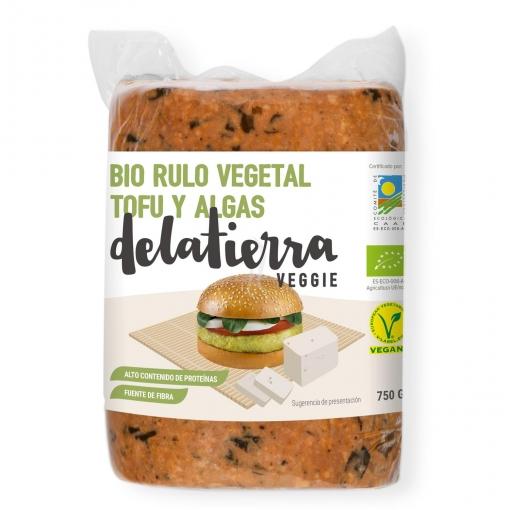 Rulo vegetal de tofu y algas ecológico Delatierra Veggie 750 g.