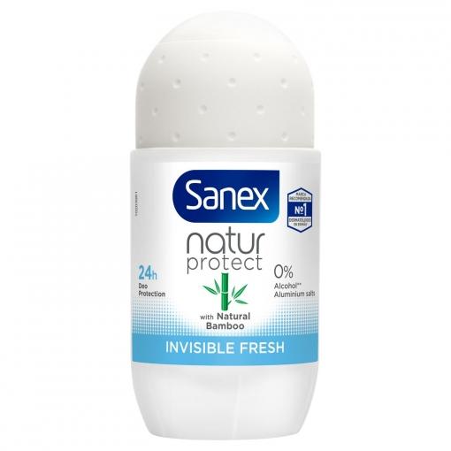 Desodorante roll-on bamboo invisible fresh Sanex 50 ml.