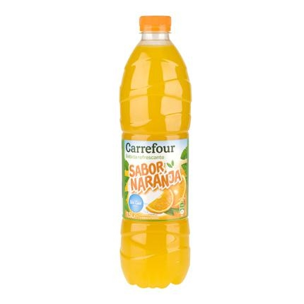 Refresco de naranja Carrefour sin gas botella 1,5 l.