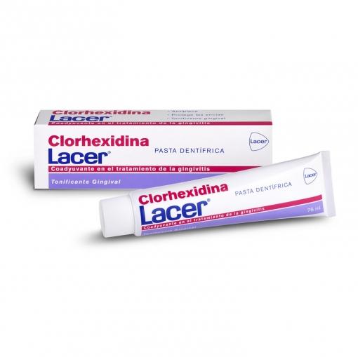 Dentífrico clorhexidina tratamiento gingivitis Lacer 75 ml.