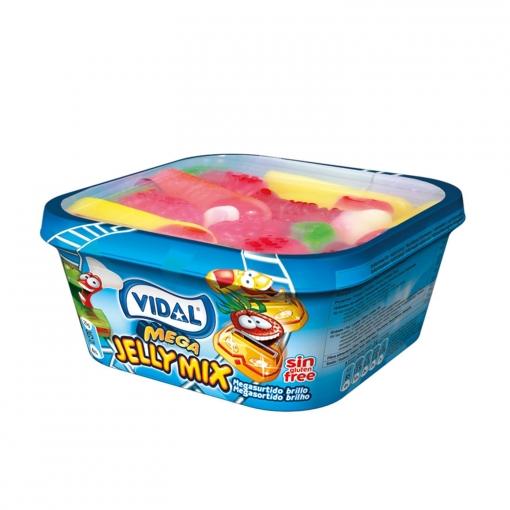Caramelos de goma Megasurtido Jelly Mix Vidal tarrina de 200 g.